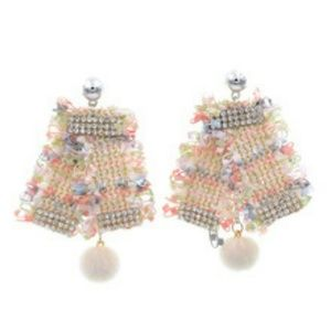 Jewelry - GORGEOUS DIVA POM POM EARRINGS NEW